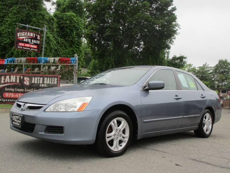 2007 Honda Accord for sale at Vigeants Auto Sales Inc in Lowell MA
