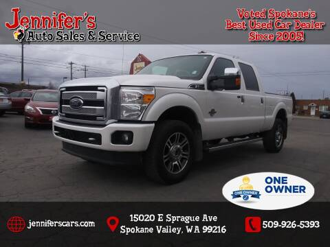 2014 Ford F-350 Super Duty for sale at Jennifer's Auto Sales in Spokane Valley WA