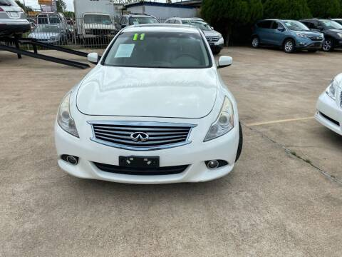 2011 Infiniti G37 Sedan for sale at SOUTHWAY MOTORS in Houston TX