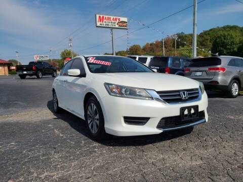 2014 Honda Accord for sale at MARLAR AUTO MART SOUTH in Oneida TN