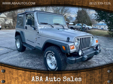 2002 Jeep Wrangler for sale at ABA Auto Sales in Bloomington IN