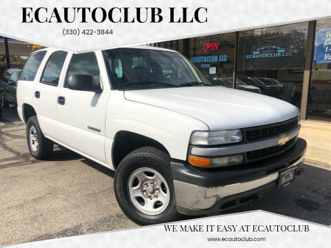 2002 Chevrolet Tahoe for sale at ECAUTOCLUB LLC in Kent OH