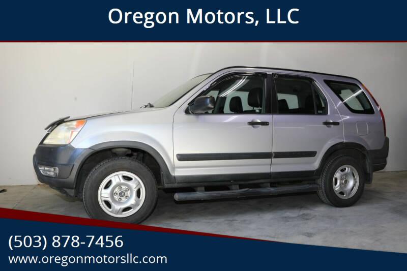 2004 Honda CR-V for sale at Oregon Motors, LLC in Portland OR