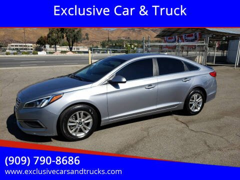 2017 Hyundai Sonata for sale at Exclusive Car & Truck in Yucaipa CA