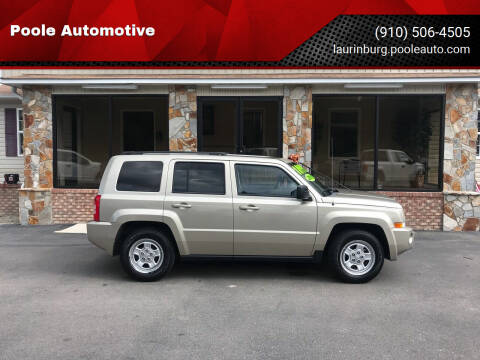 2010 Jeep Patriot for sale at Poole Automotive in Laurinburg NC