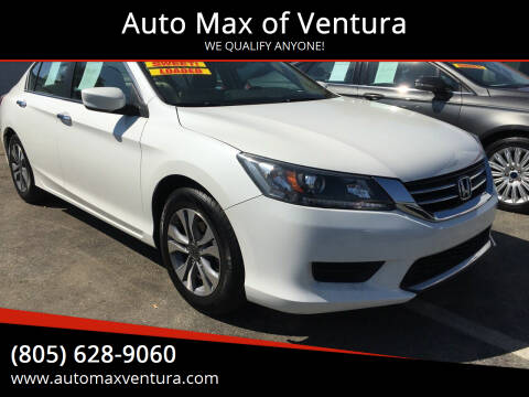 2015 Honda Accord for sale at Auto Max of Ventura in Ventura CA