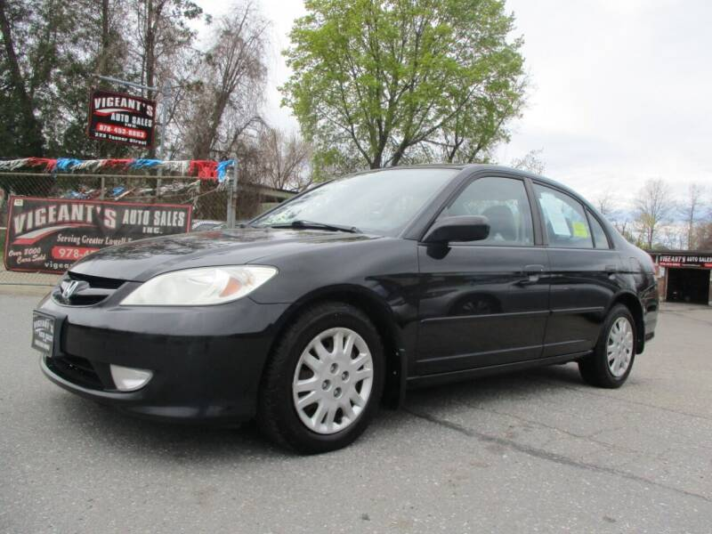 2004 Honda Civic for sale at Vigeants Auto Sales Inc in Lowell MA