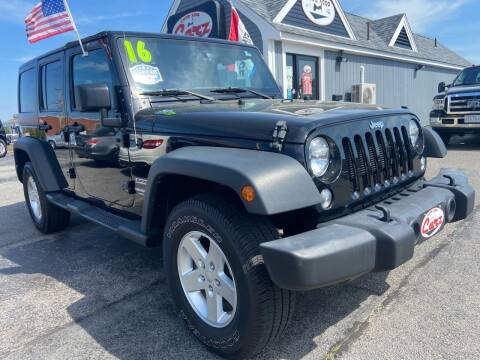2016 Jeep Wrangler Unlimited for sale at Cape Cod Carz in Hyannis MA