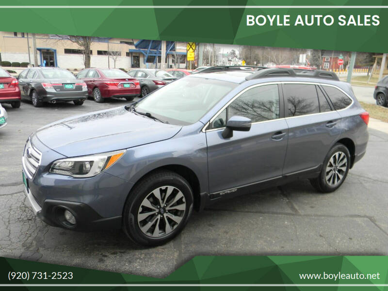 2016 Subaru Outback for sale at Boyle Auto Sales in Appleton WI