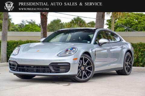 2021 Porsche Panamera for sale at Presidential Auto  Sales & Service in Delray Beach FL