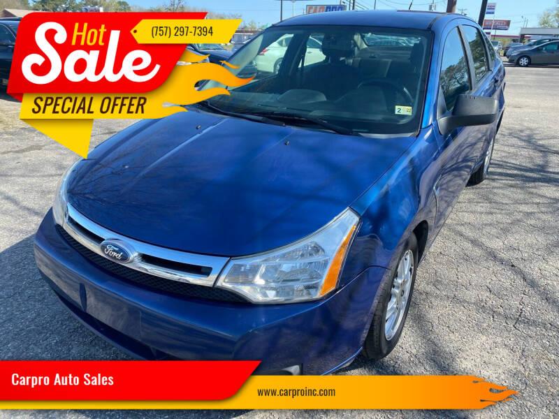 2008 Ford Focus for sale at Carpro Auto Sales in Chesapeake VA