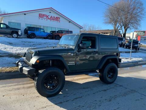 2015 Jeep Wrangler for sale at Efkamp Auto Sales LLC in Des Moines IA
