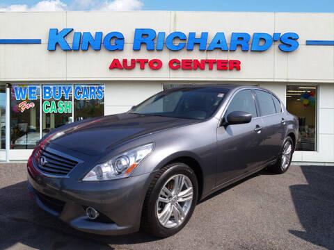 2012 Infiniti G37 Sedan for sale at KING RICHARDS AUTO CENTER in East Providence RI