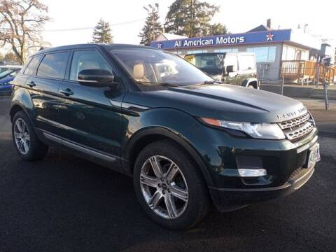 2013 Land Rover Range Rover Evoque for sale at All American Motors in Tacoma WA