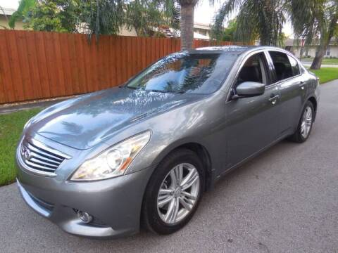 2012 Infiniti G25 Sedan for sale at FINANCIAL CLAIMS & SERVICING INC in Hollywood FL