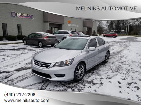 2015 Honda Accord for sale at Melniks Automotive in Berea OH