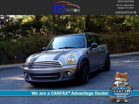 2013 MINI Clubman for sale at Zed Motors in Raleigh NC