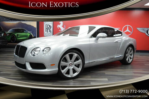 2013 Bentley Continental for sale at Icon Exotics in Houston TX