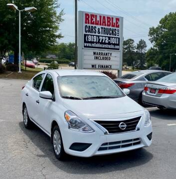 2019 Nissan Versa for sale at Reliable Cars & Trucks LLC in Raleigh NC
