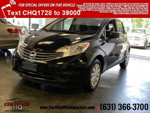 2016 Nissan Versa Note for sale at CERTIFIED HEADQUARTERS in Saint James NY