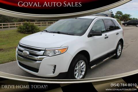 2014 Ford Edge for sale at Goval Auto Sales in Pompano Beach FL