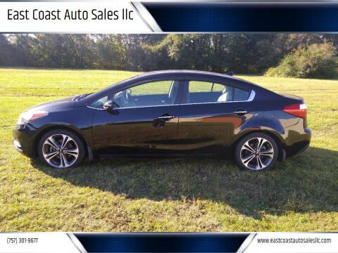 2015 Kia Forte for sale at East Coast Auto Sales llc in Virginia Beach VA