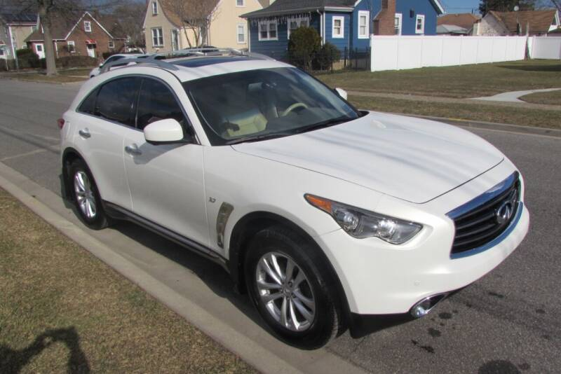 2014 Infiniti QX70 for sale at First Choice Automobile in Uniondale NY