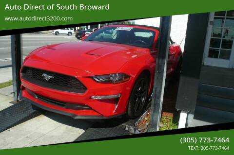 2019 Ford Mustang for sale at Auto Direct of South Broward in Miramar FL