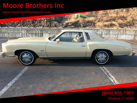 1977 Chevrolet Monte Carlo for sale at Moore Brothers Inc in Portland CT