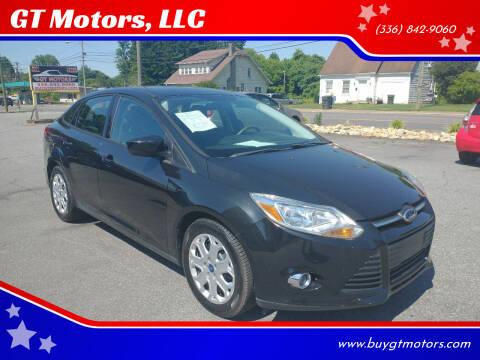 2012 Ford Focus for sale at GT Motors, LLC in Elkin NC