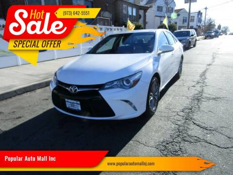 2017 Toyota Camry for sale at Popular Auto Mall Inc in Newark NJ
