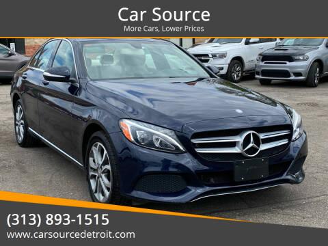 2015 Mercedes-Benz C-Class for sale at Car Source in Detroit MI