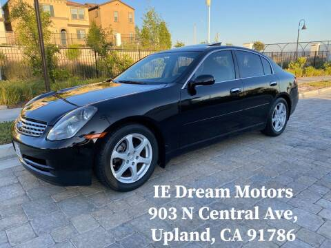 2004 Infiniti G35 for sale at IE Dream Motors-Upland in Upland CA