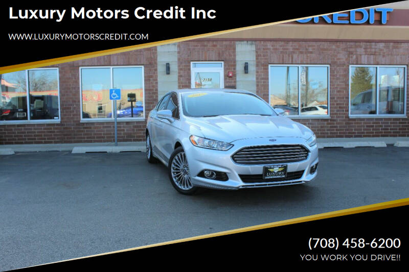 2013 Ford Fusion for sale at Luxury Motors Credit Inc in Bridgeview IL