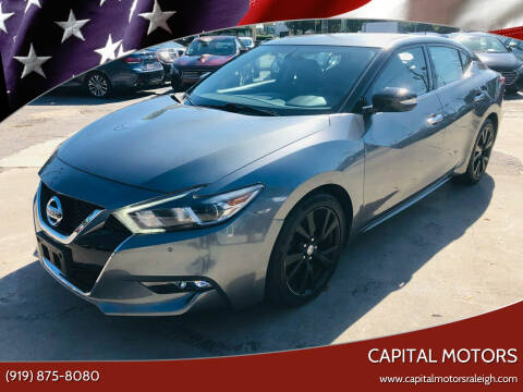 2018 Nissan Maxima for sale at Capital Motors in Raleigh NC