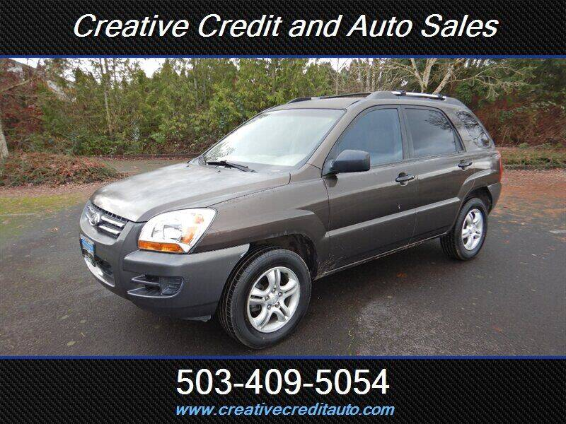 2007 Kia Sportage for sale at Creative Credit & Auto Sales in Salem OR