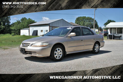 2001 Honda Accord for sale at WINEGARDNER AUTOMOTIVE LLC in New Lexington OH