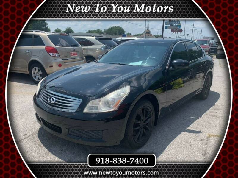2008 Infiniti G35 for sale at New To You Motors in Tulsa OK