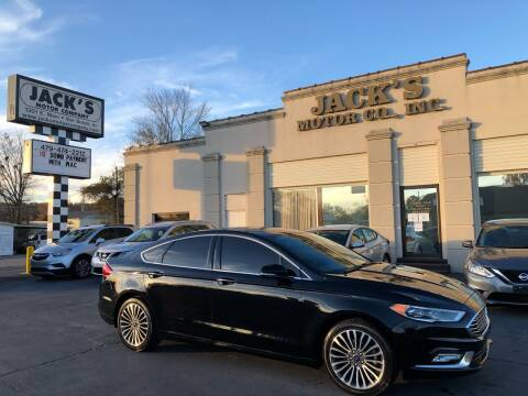 2017 Ford Fusion for sale at JACK'S MOTOR COMPANY in Van Buren AR