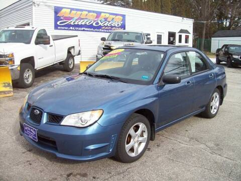 2007 Subaru Impreza for sale at Auto Pro Auto Sales in Lewiston ME