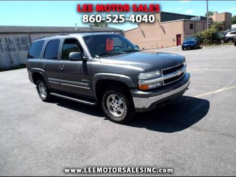 2002 Chevrolet Tahoe for sale at Lee Motor Sales Inc. in Hartford CT