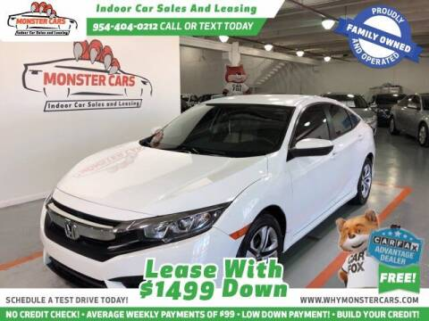 2016 Honda Civic for sale at Monster Cars LLC - Lease Vehicles in Pompano Beach FL