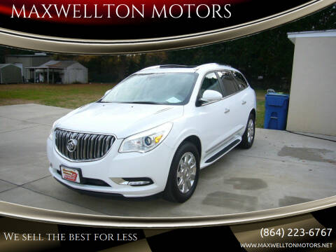2017 Buick Enclave for sale at MAXWELLTON MOTORS in Greenwood SC