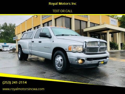 2003 Dodge Ram Pickup 3500 for sale at Royal Motors Inc in Kent WA