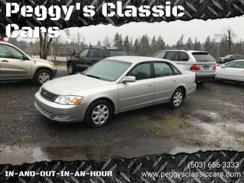2001 Toyota Avalon for sale at Peggy's Classic Cars in Oregon City OR