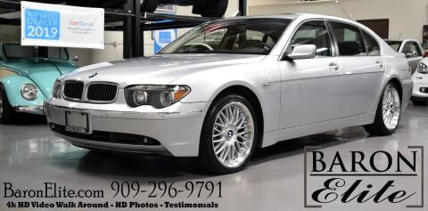 2002 BMW 7 Series for sale at Baron Elite in Upland CA