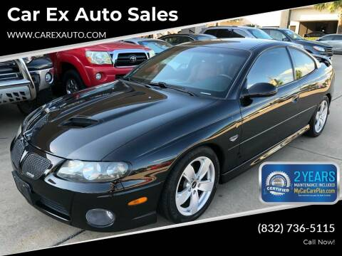 2005 Pontiac GTO for sale at Car Ex Auto Sales in Houston TX