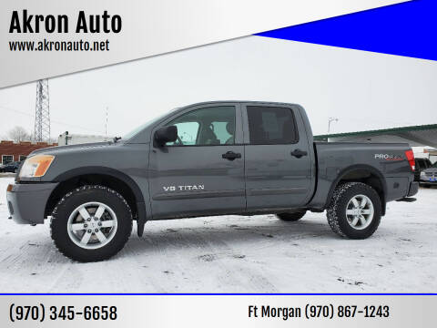 2012 Nissan Titan for sale at Akron Auto - Fort Morgan in Fort Morgan CO