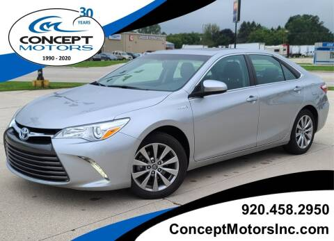 2017 Toyota Camry Hybrid for sale at CONCEPT MOTORS INC in Sheboygan WI