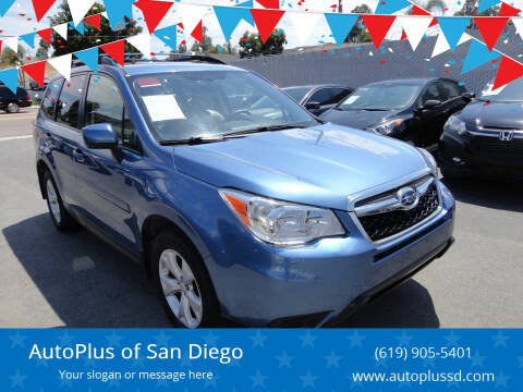 2016 Subaru Forester for sale at AutoPlus of San Diego in Spring Valley CA
